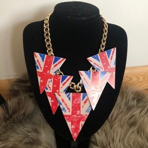 Rare Ode to England  triangle dangle necklace *NWT